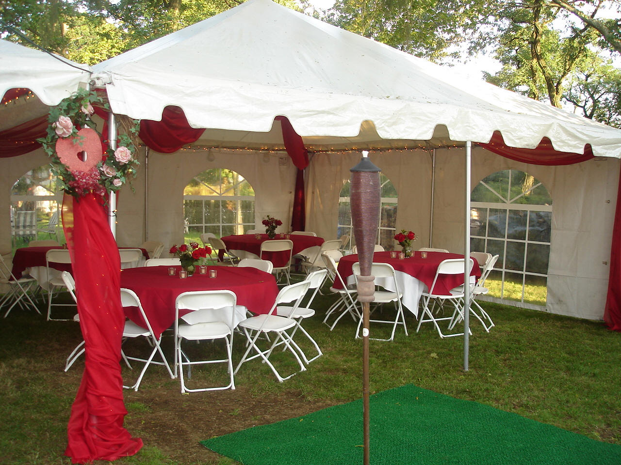 20x20 wedding tent red party rental miami