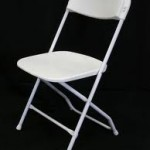 white foldable chair rentals