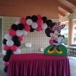 minnie mouse decorated table