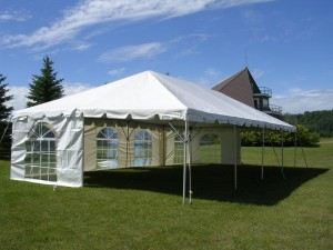 tent rentals with side wall