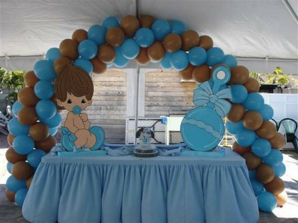 Decorations party rental miami for Baby shower decoration photos