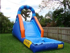 rainbow water slide bounce house