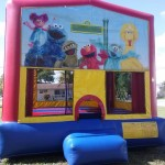 elmo banner bounce house