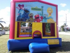 elmo banner bounce house