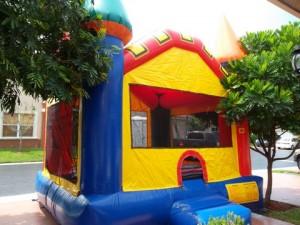 multicolor castle bounce house