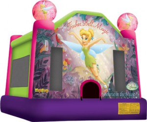 tinker bell themed bounce house