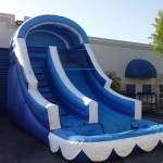 big blue waterslide
