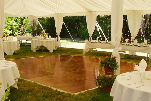Portable dance floor rentals party rental miami for Outdoor dance floor ideas