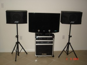 karaoke wih speakers and tv party accessories
