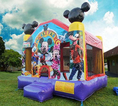 mickey ful face bounce house