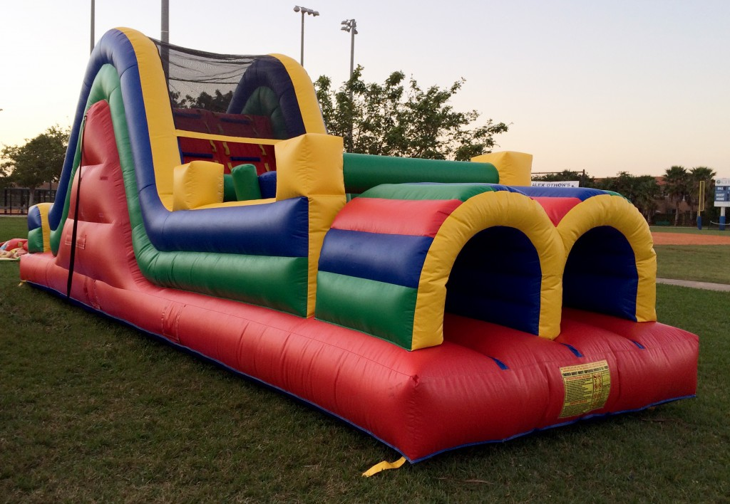multicolor obstacle combo bounce house rentals
