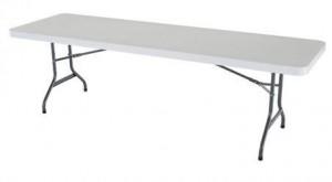rectangular 8' table rental