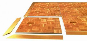 8 x 8 wooden dance floor