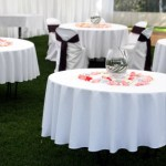 tables with linens