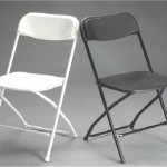white and black plastic folding chair rentals