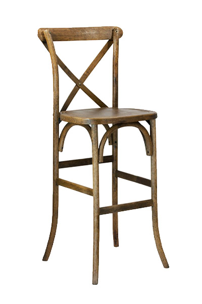 cross back barstool chair rentals in miami