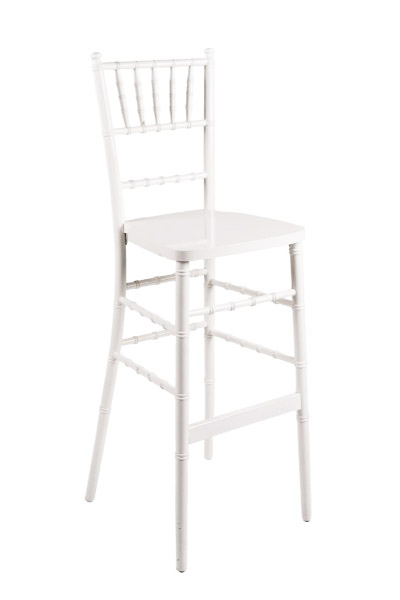 white barstool rentals chiavari wedding