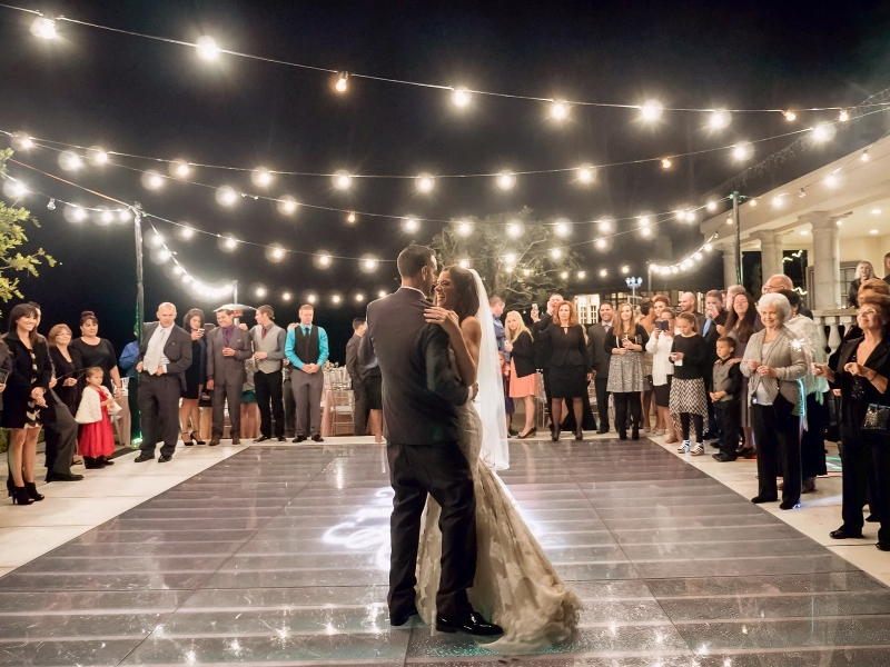 wedding pool cover dance floor rentals