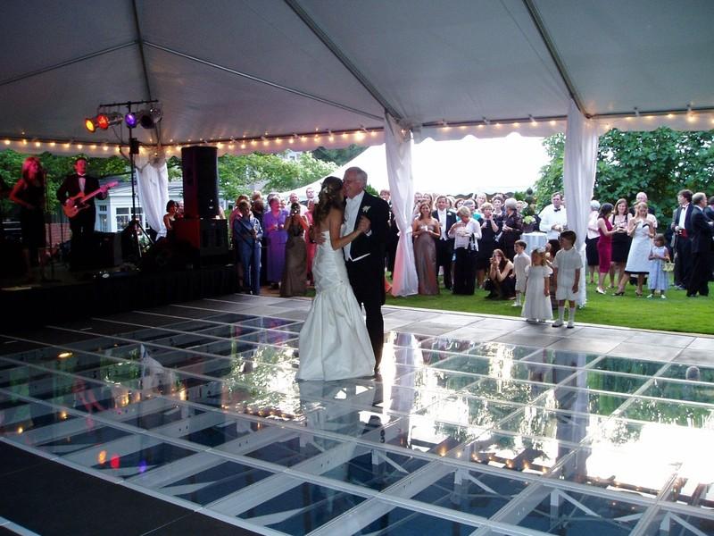 miramar wedding pool cover dance floor rentals