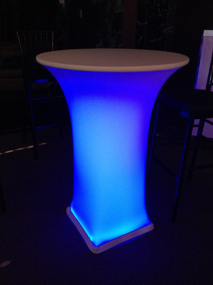 LED highboy cocktail spandex linen rentals