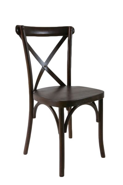 espresso crossback chair rentals in miami