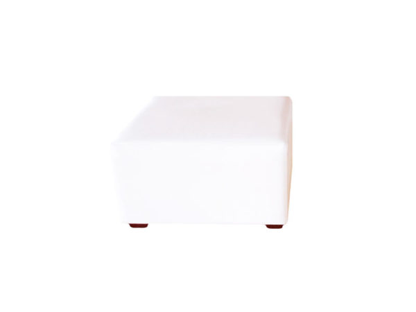 white ottoman leather furniture rentals