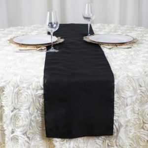 black table runner rentals