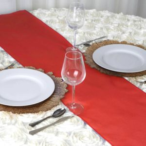red table runner rentals in miami