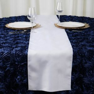 white table runner rentals