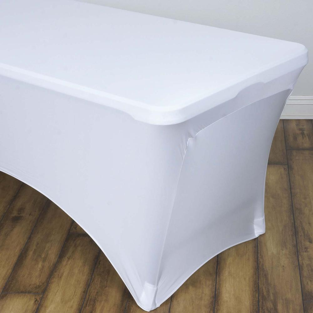 white spandex table cloth rentals