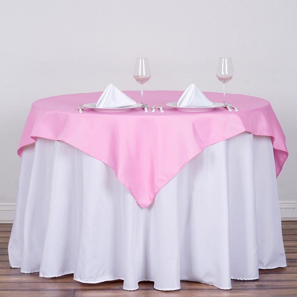 pink overlay satin linen rentals in miami