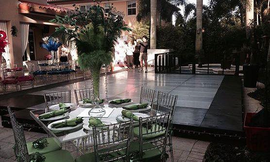 wedding ceremony dance floor for rentals in broward