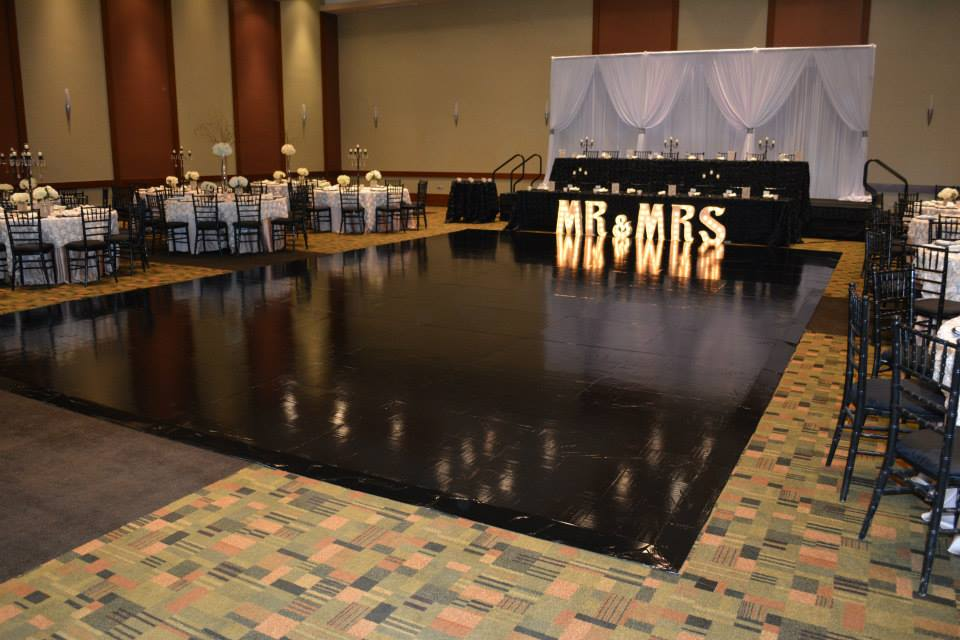 black vinyl dance floor rentals in miami