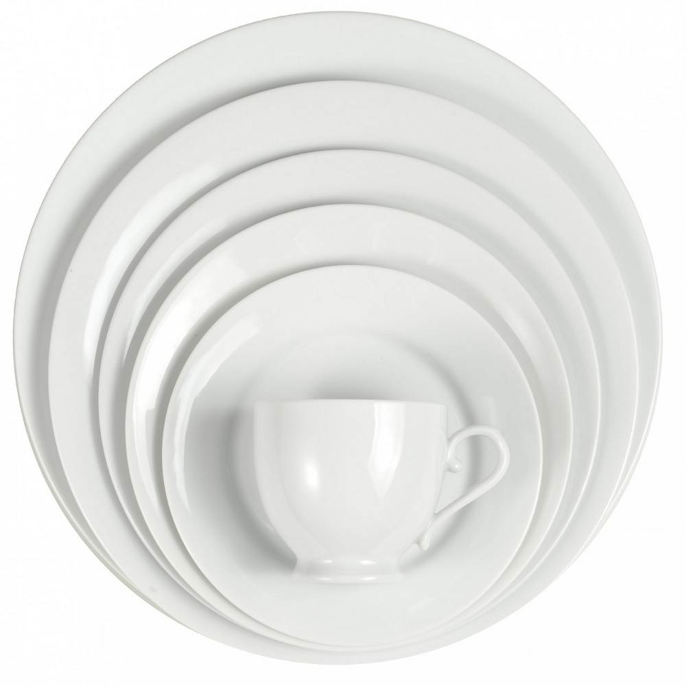 white dinner plate rentals in miami