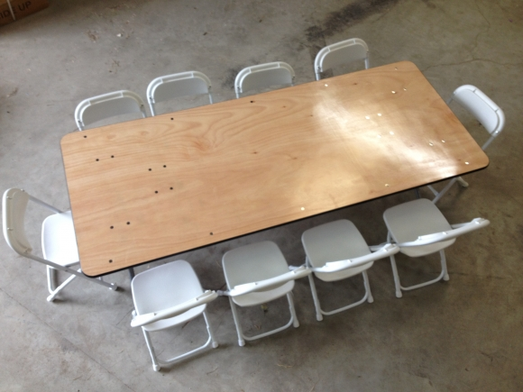 kids low 6 foot table rentals in miami