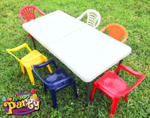 kids tables and chair rentals in miami