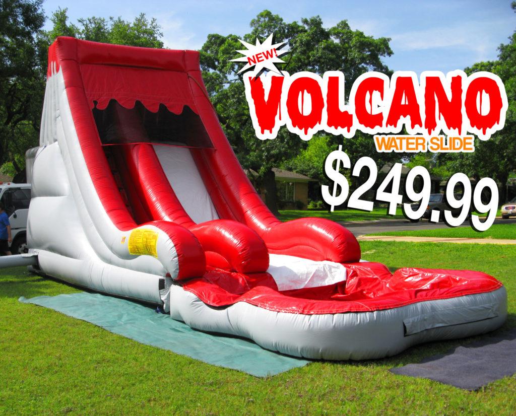 red volcano water slide rentals in miami