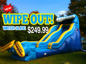 wipe out water slide rentals in miami
