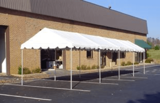 10 x 40 white framed tent rental miami