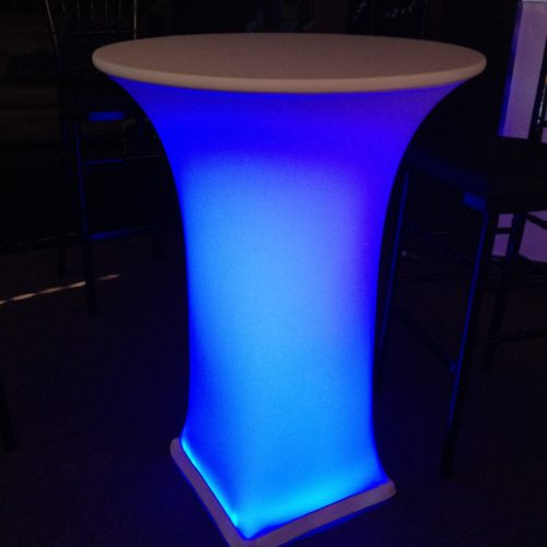 LED highboy cocktail spandex linen rentals