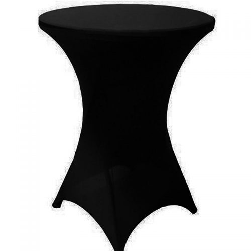highboy cocktail table black spandex