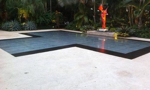flush acrylic pool cover dance floor rental in miami