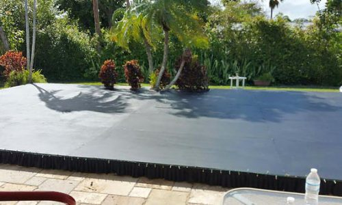 plywood pool cover dance floor